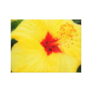 Flor amarilla impresiones en lona