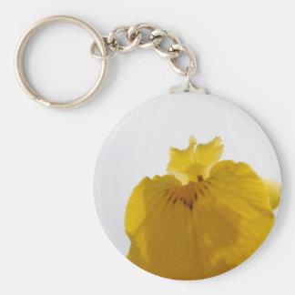 Flor amarilla llaveros personalizados