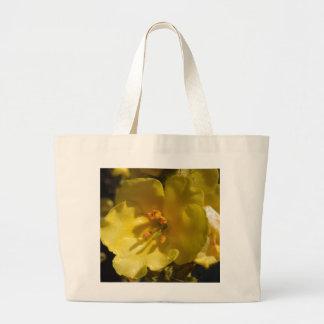 Flor amarilla macra del sabio de Clary Bolsas Lienzo