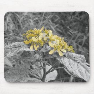 Flor amarilla Mousepad Alfombrillas De Ratón
