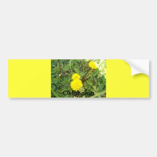 flor amarilla (Oklahoma) Pegatina De Parachoque
