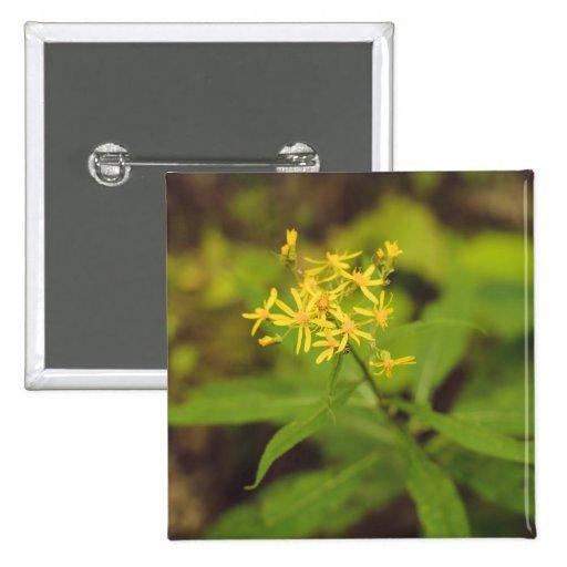 Flor amarilla pin
