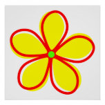Flor amarilla retra posters