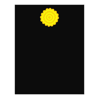 Flor amarilla soleada brillante. En negro Tarjetas Publicitarias