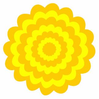 Flor amarilla soleada fotoescultura vertical