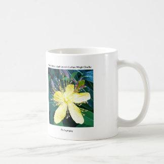 Flor amarilla tazas