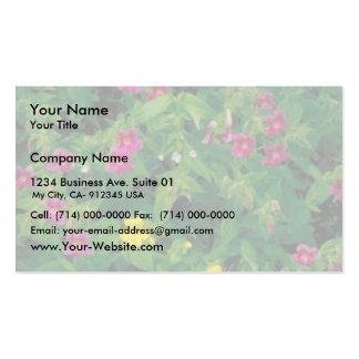 Flor amarilla y púrpura del mono tarjeta de visita