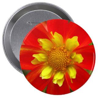 Flor amarilla y roja pin