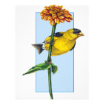 Flor americana del Goldfinch y del Zinnia Membretes Personalizados