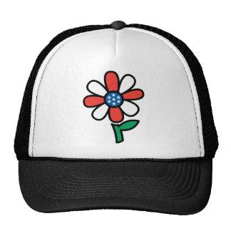 Flor americana gorras