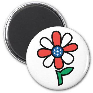 Flor americana imán de frigorífico