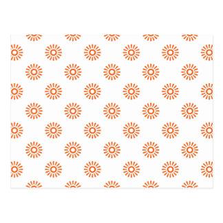 Flor anaranjada 6 del Celosia Postales