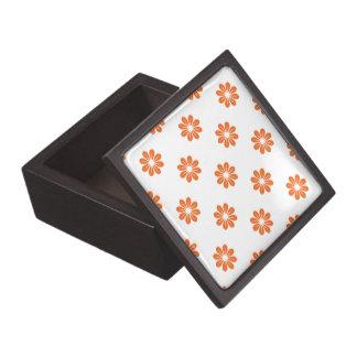Flor anaranjada 8 del Celosia Caja De Recuerdo De Calidad
