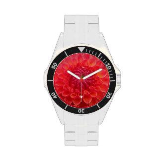 Flor anaranjada de Dalia Relojes De Mano
