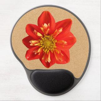 Flor anaranjada de la dalia del jardín botánico alfombrilla gel