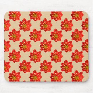 Flor anaranjada de la dalia del jardín botánico mousepads