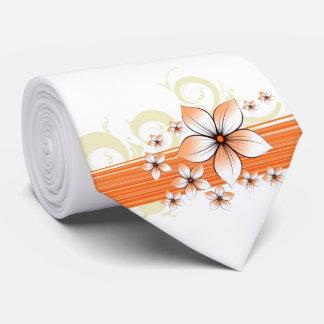 flor anaranjada de la persona que practica surf corbata