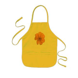 Flor anaranjada de PopArt de la ayuda Delantal Infantil