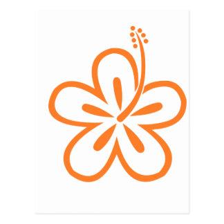 Flor anaranjada del hibisco postales
