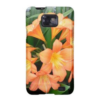 Flor anaranjada del lirio de Bush o lirio natal Samsung Galaxy S2 Carcasa