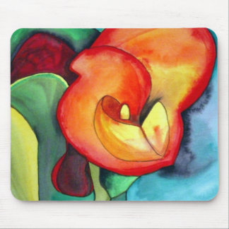 Flor anaranjada del lirio de Canna Alfombrilla De Ratón