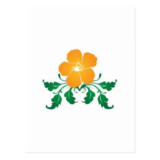 Flor anaranjada: Dibujo del vector: Postales