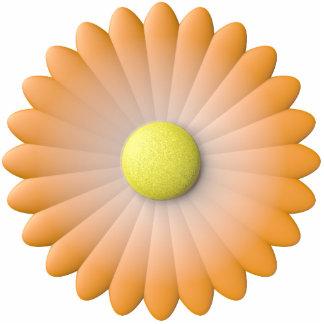 flor anaranjada escultura fotografica