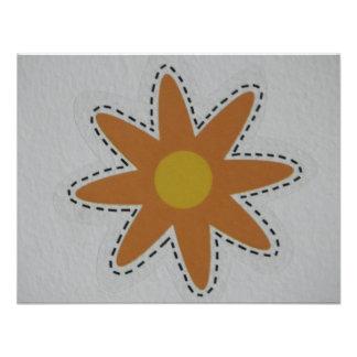 flor anaranjada comunicados personalizados
