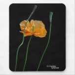 Flor anaranjada Mousepad de la amapola Tapete De Ratones