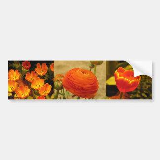 Flor anaranjada pegatina para auto