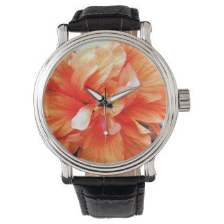 Flor anaranjada relojes de mano
