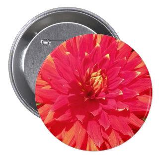 Flor anaranjada roja de la dalia