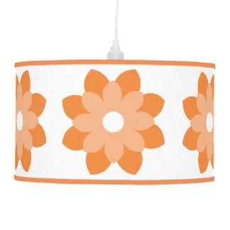 Flor anaranjada simple y brillante lámpara de techo