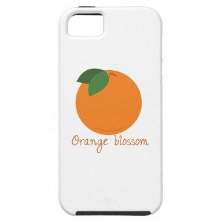 Flor anaranjado iPhone 5 cárcasas