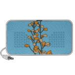 Flor anaranjado iPod altavoz