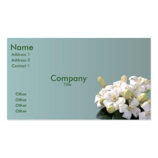 Flor anaranjado plantilla de tarjeta de negocio