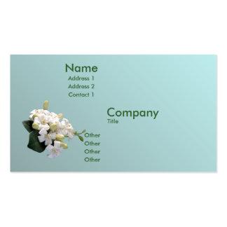 Flor anaranjado plantilla de tarjeta de visita