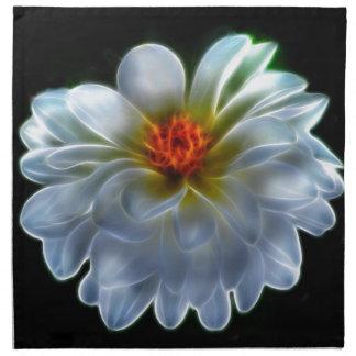 Flor artística de la dalia servilleta