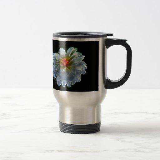 Flor artística de la dalia taza térmica