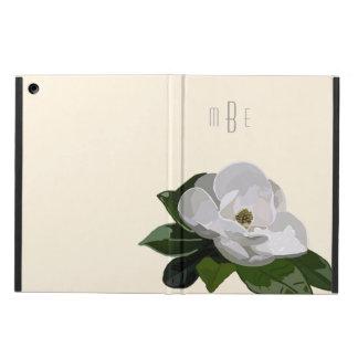 Flor artística de la magnolia en de blanco