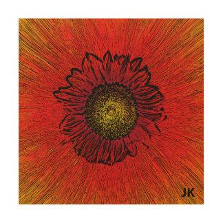 Flor asombrosa cuadro de madera