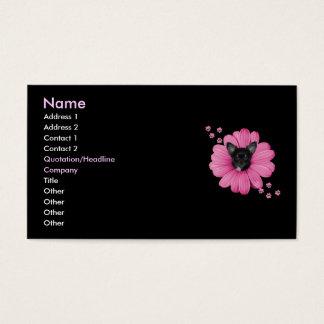 Flor astuta adorable del rosa de la chihuahua del  tarjetas de visita