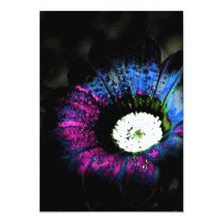 """Flor atómica invitación 5"""" x 7"""""""
