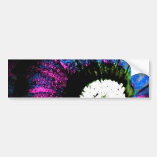 Flor atómica pegatina para auto