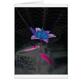 Flor atómica tarjeta de felicitación