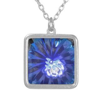 Flor azul 2015 colgante cuadrado