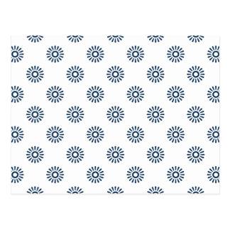 Flor azul 6 del deslumbramiento tarjetas postales