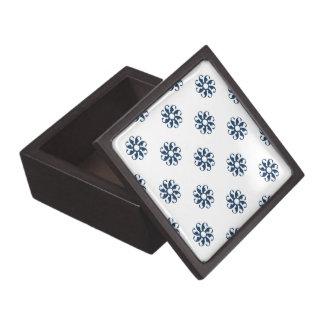Flor azul 7 del deslumbramiento cajas de recuerdo de calidad