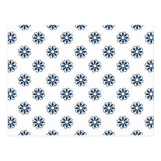 Flor azul 7 del deslumbramiento tarjetas postales