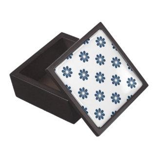 Flor azul 8 del deslumbramiento cajas de joyas de calidad